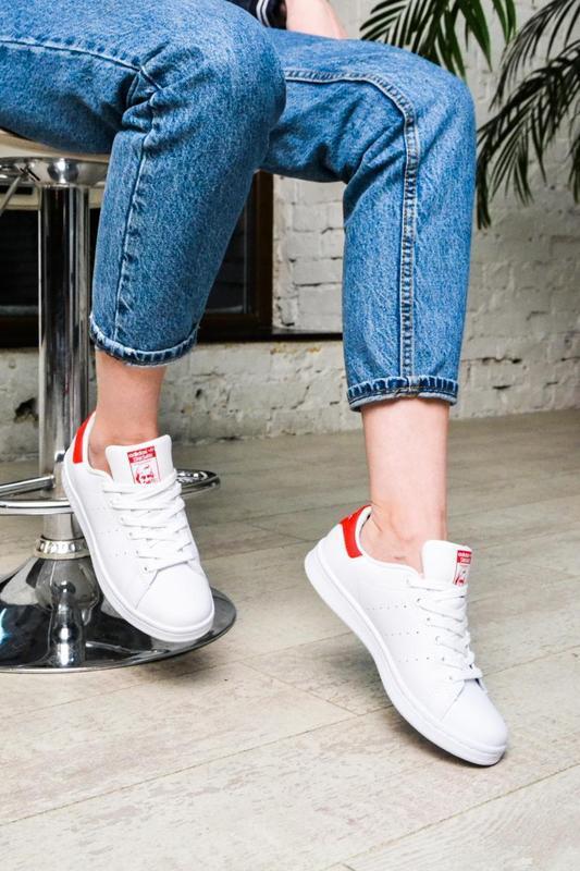 Модные кроссовки 💪adidas stan smith white red💪 - Фото 5