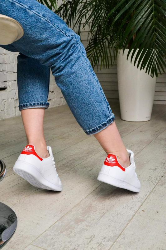 Модные кроссовки 💪adidas stan smith white red💪 - Фото 7