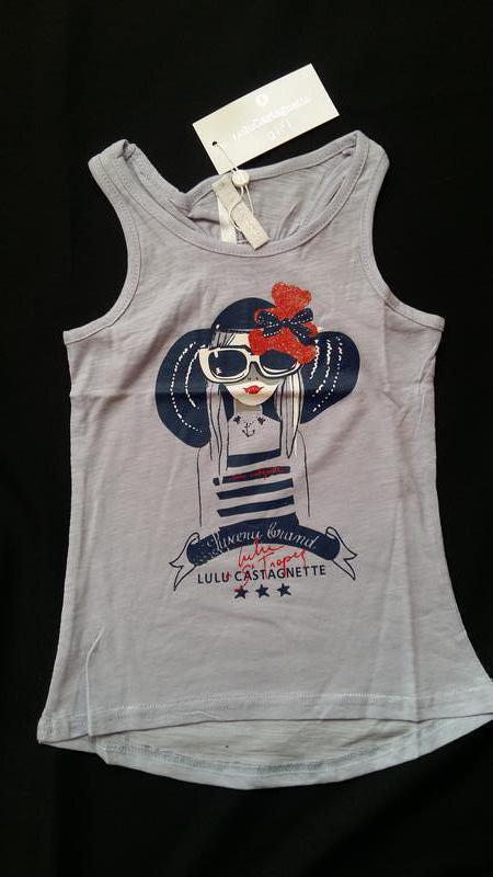 Майка/футболка lulu castagnette (франция) на 5-6 лет