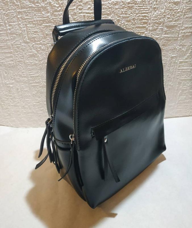 Сумка рюкзак женский кожа - Фото 4