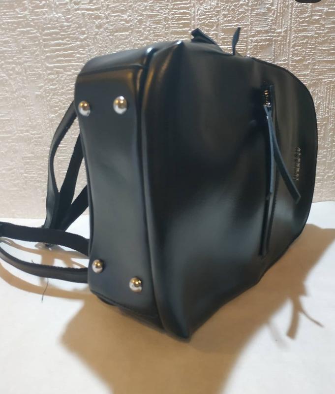 Сумка рюкзак женский кожа - Фото 5