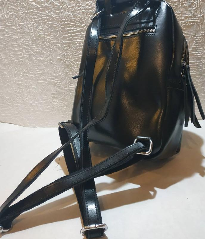 Сумка рюкзак женский кожа - Фото 6