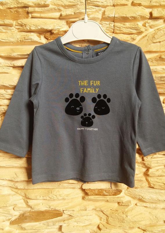 Реглан/распашонка/футболка kiabi (франция) на 9 месяцев (разме... - Фото 2