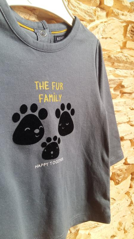 Реглан/распашонка/футболка kiabi (франция) на 9 месяцев (разме... - Фото 3