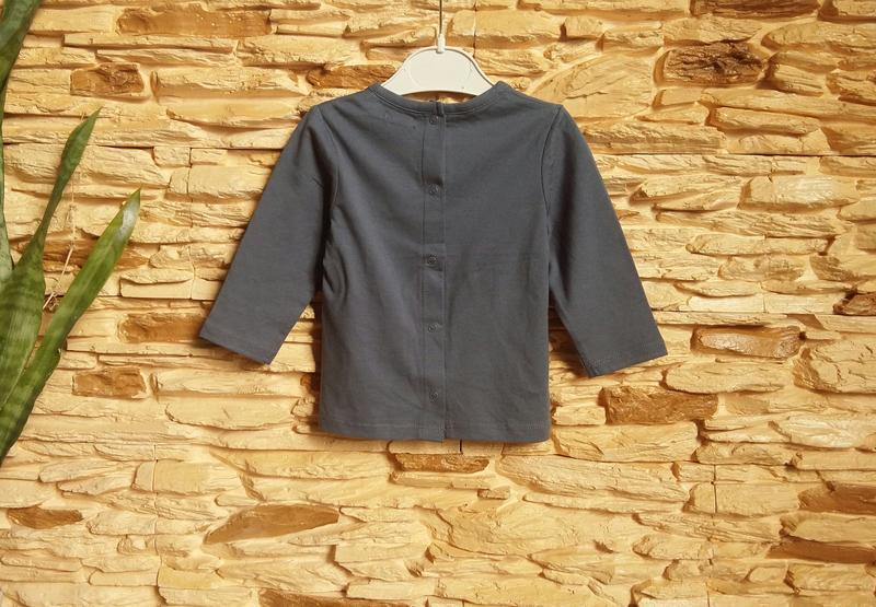Реглан/распашонка/футболка kiabi (франция) на 9 месяцев (разме... - Фото 4
