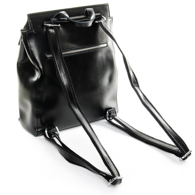 Сумка женская рюкзак кожа - Фото 4
