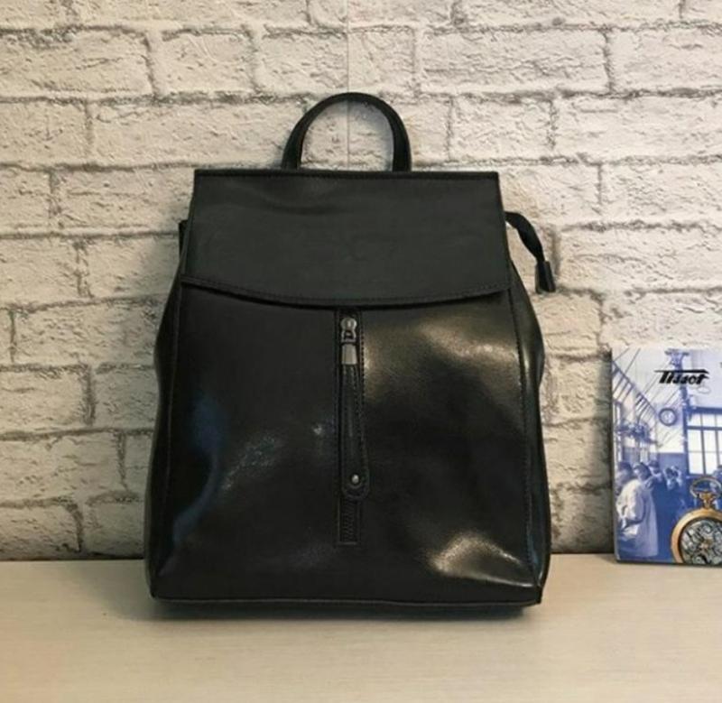 Сумка женская рюкзак кожа - Фото 5