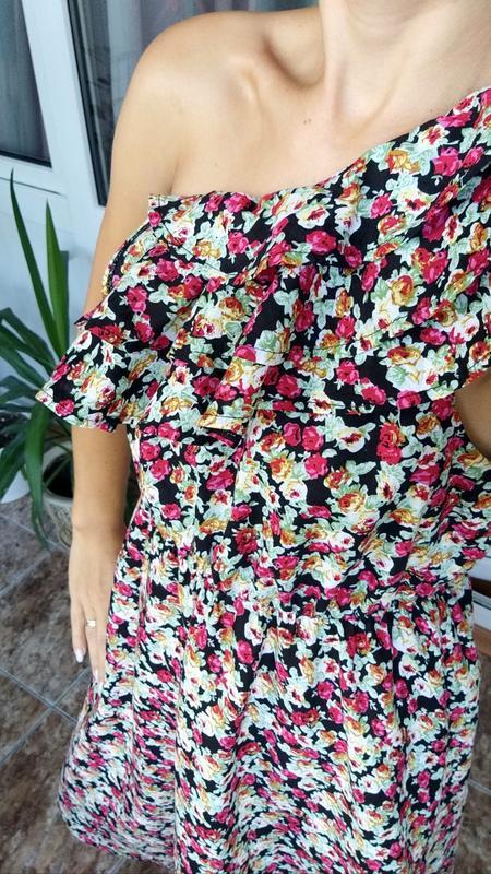 Невероятно женственное платье в цветочный принт от французског... - Фото 2