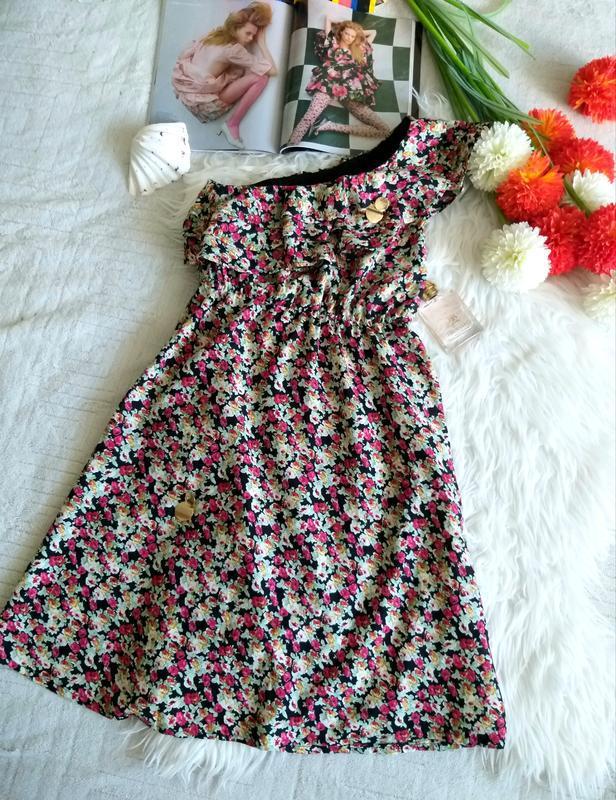Невероятно женственное платье в цветочный принт от французског... - Фото 7