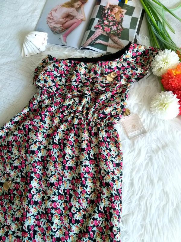 Невероятно женственное платье в цветочный принт от французског... - Фото 8