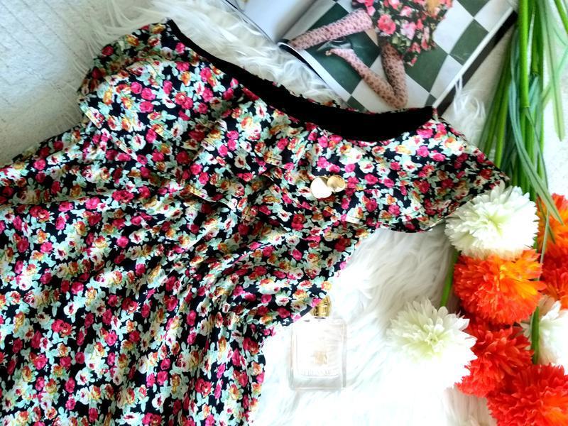 Невероятно женственное платье в цветочный принт от французског... - Фото 9