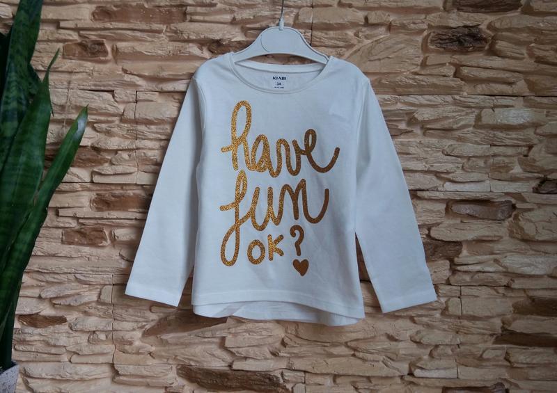 Реглан/лонгслив/футболка kiabi (франция) на 2-3 годика (размер...