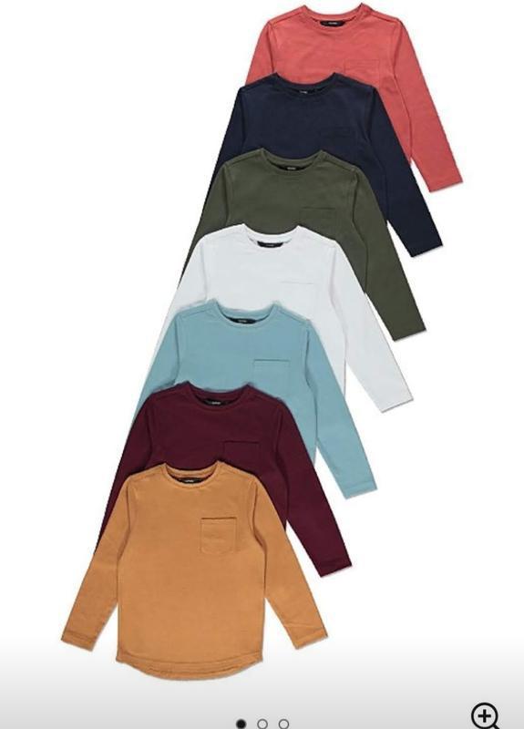 Регланы,  футболки с длинным рукавом george от 6 до 10 лет