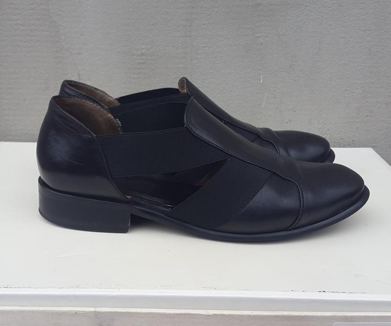 Кожаные туфли босоножки 37р. - Фото 2