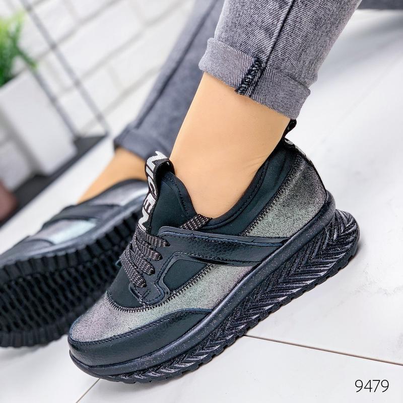 Кожаные демисезонные кроссовки, модные кроссовки на платформе ...