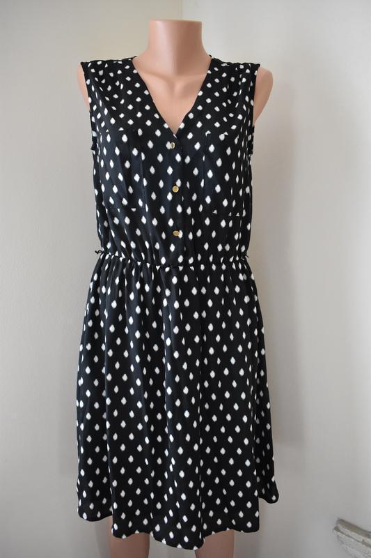 Красивое платье с принтом h&m