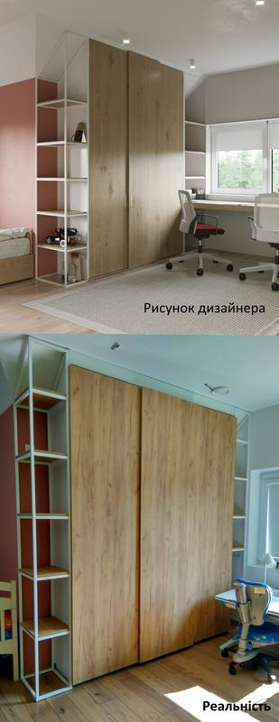 Меблі в дитячій кімнаті з шафою-купе на системі Hettich TopLine L