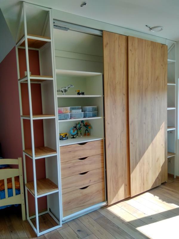 Меблі в дитячій кімнаті з шафою-купе на системі Hettich TopLine L - Фото 2