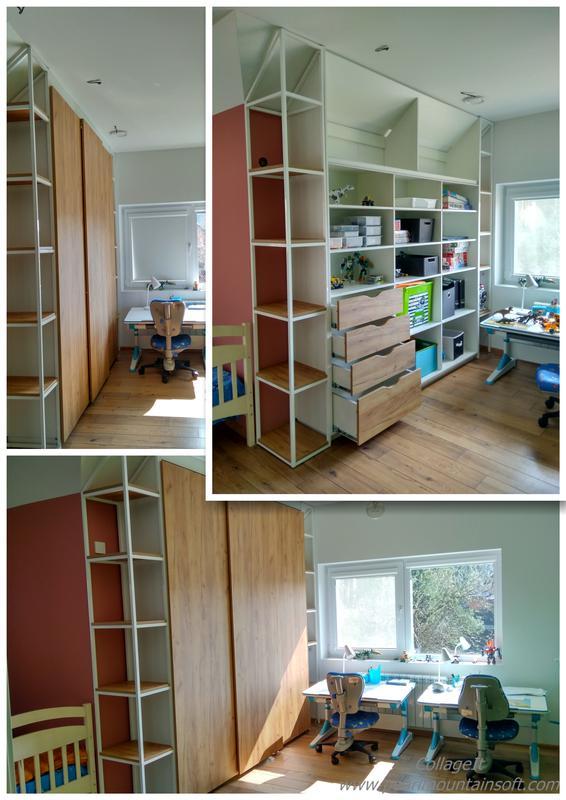 Меблі в дитячій кімнаті з шафою-купе на системі Hettich TopLine L - Фото 3