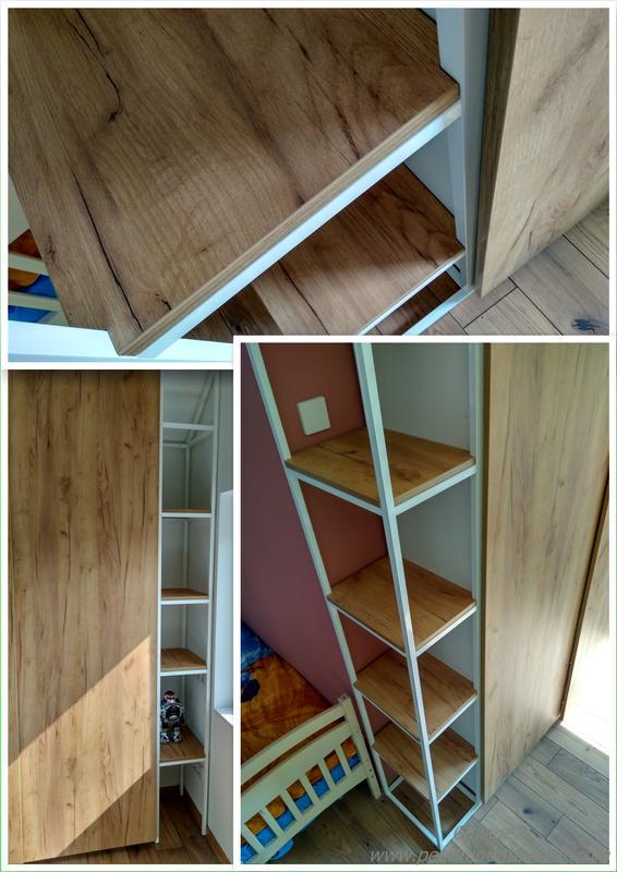 Меблі в дитячій кімнаті з шафою-купе на системі Hettich TopLine L - Фото 5