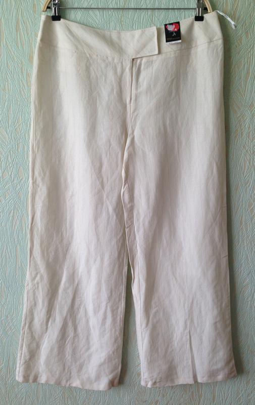 Распродажа! - летние брюки *e-vie collection* 16 р. - лен+вискоза