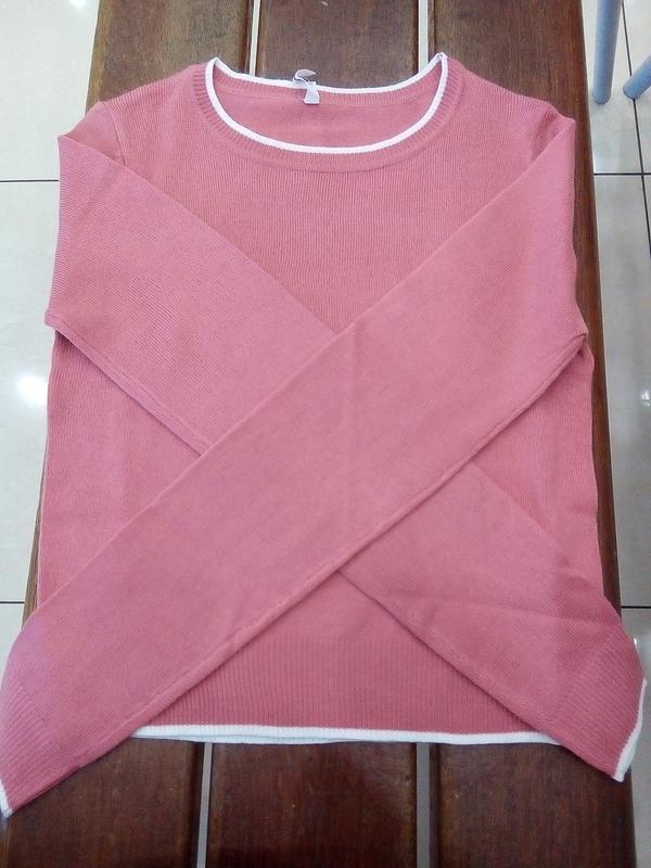 Новая короткая красная розовая амарантовая кофта свитер польша... - Фото 6