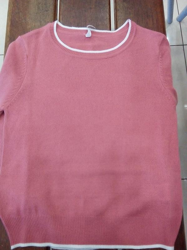 Новая короткая красная розовая амарантовая кофта свитер польша... - Фото 7