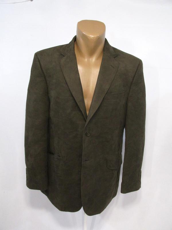 Пиджак milan collection, 50r, polyester (велюр), коричневый, о...