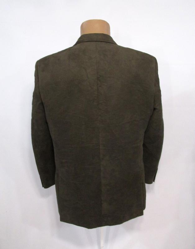 Пиджак milan collection, 50r, polyester (велюр), коричневый, о... - Фото 3