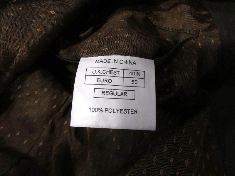 Пиджак milan collection, 50r, polyester (велюр), коричневый, о... - Фото 5