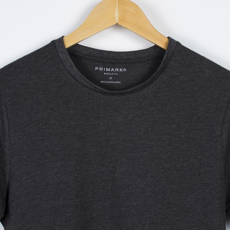 Базовая серая футболка, однотонная футболка оверсайз, футболка... - Фото 3