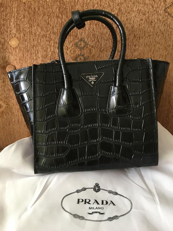 Кожаная сумка Prada glace - Фото 2