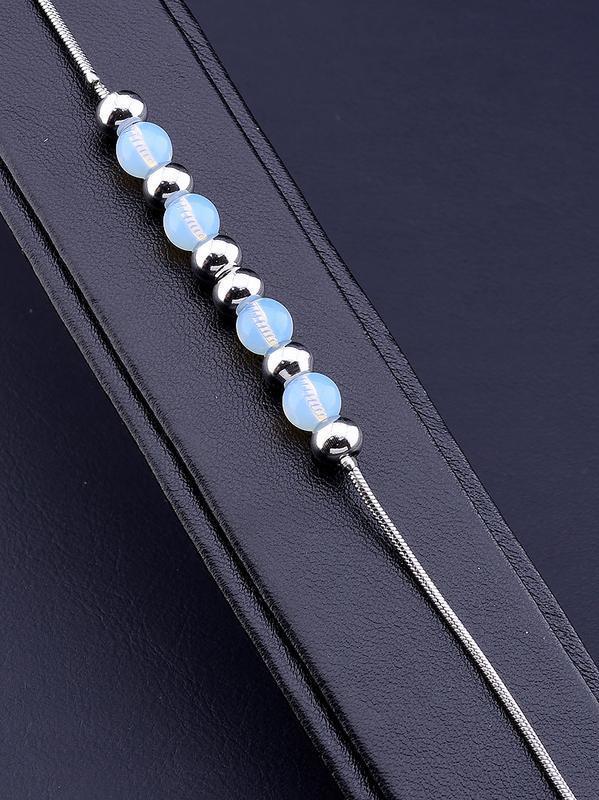 Браслет 'stainless steel' лунный камень 18 см. 0701650