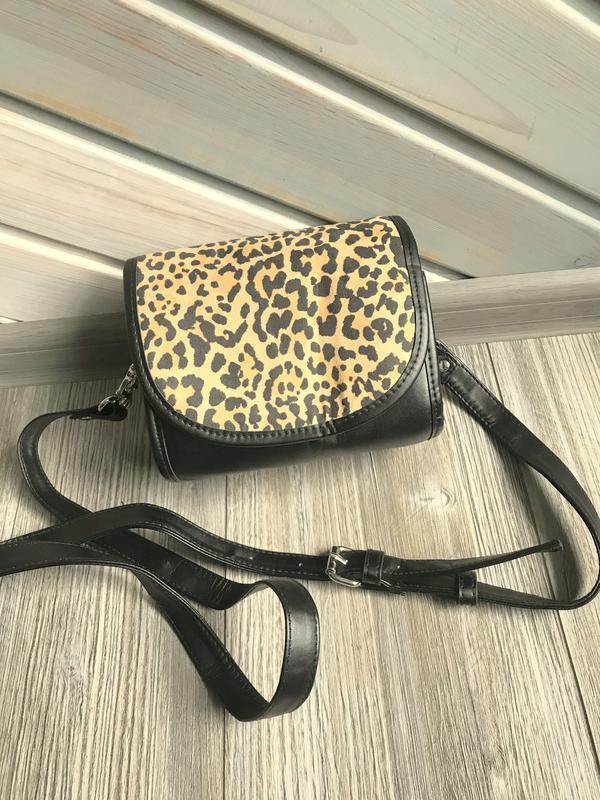 Клатч сумочка леопард h&m