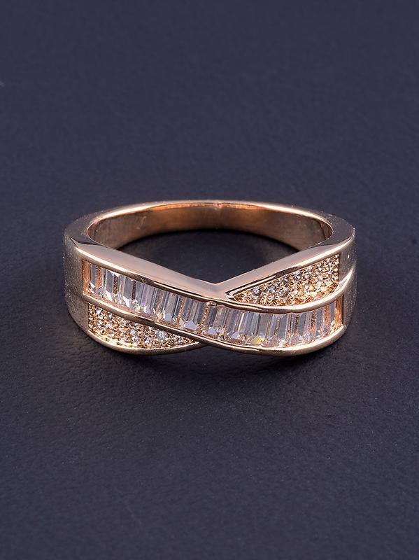 Кольцо 'big dipper' фианит (позолота 18к) 0562700