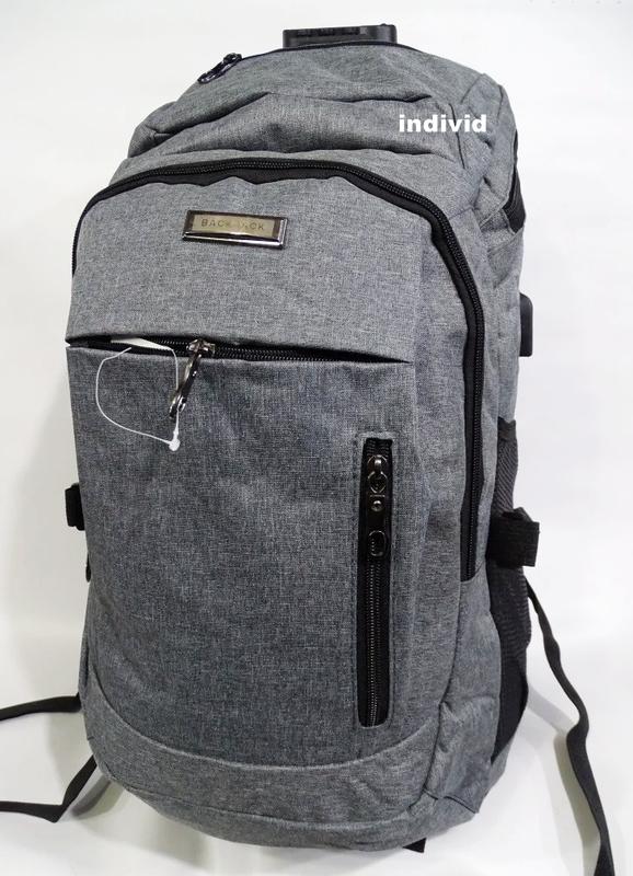 Качественный мужской рюкзак c j3 с usb антивор. сумка портфель...