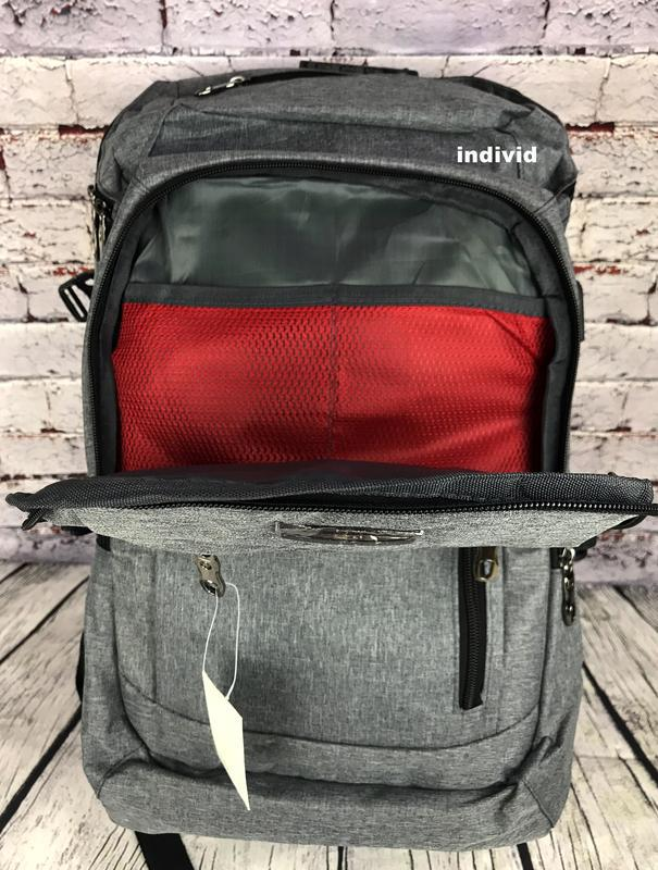Качественный мужской рюкзак c j3 с usb антивор. сумка портфель... - Фото 2