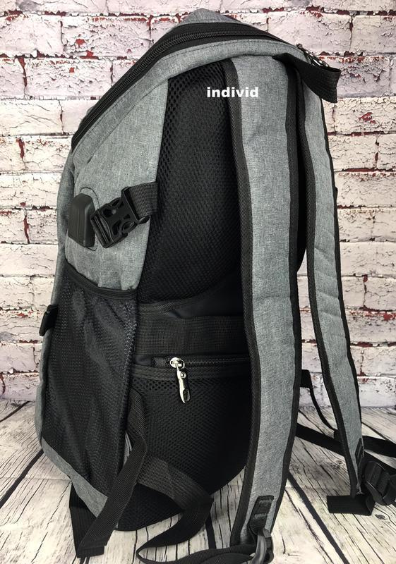 Качественный мужской рюкзак c j3 с usb антивор. сумка портфель... - Фото 6