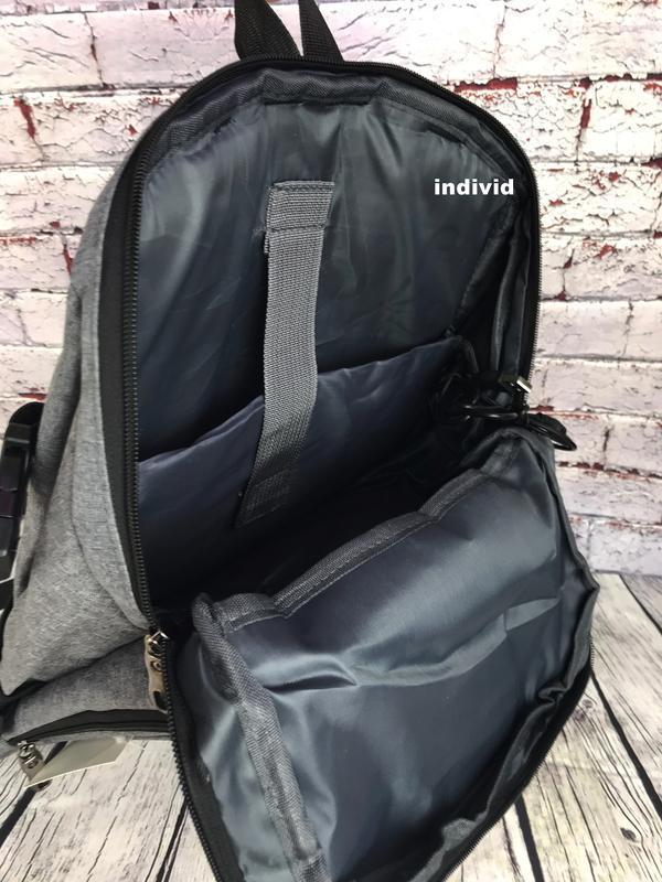 Качественный мужской рюкзак c j3 с usb антивор. сумка портфель... - Фото 7