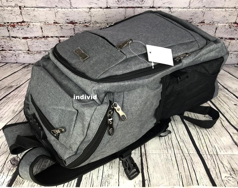 Качественный мужской рюкзак c j3 с usb антивор. сумка портфель... - Фото 8