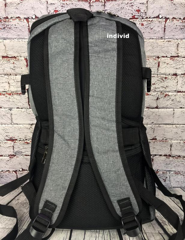 Качественный мужской рюкзак c j3 с usb антивор. сумка портфель... - Фото 9