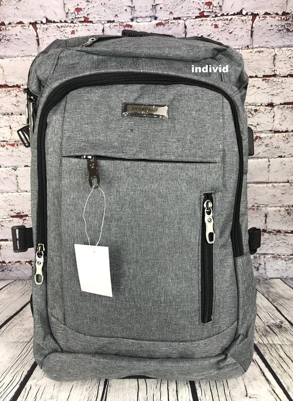 Качественный мужской рюкзак c j3 с usb антивор. сумка портфель... - Фото 10