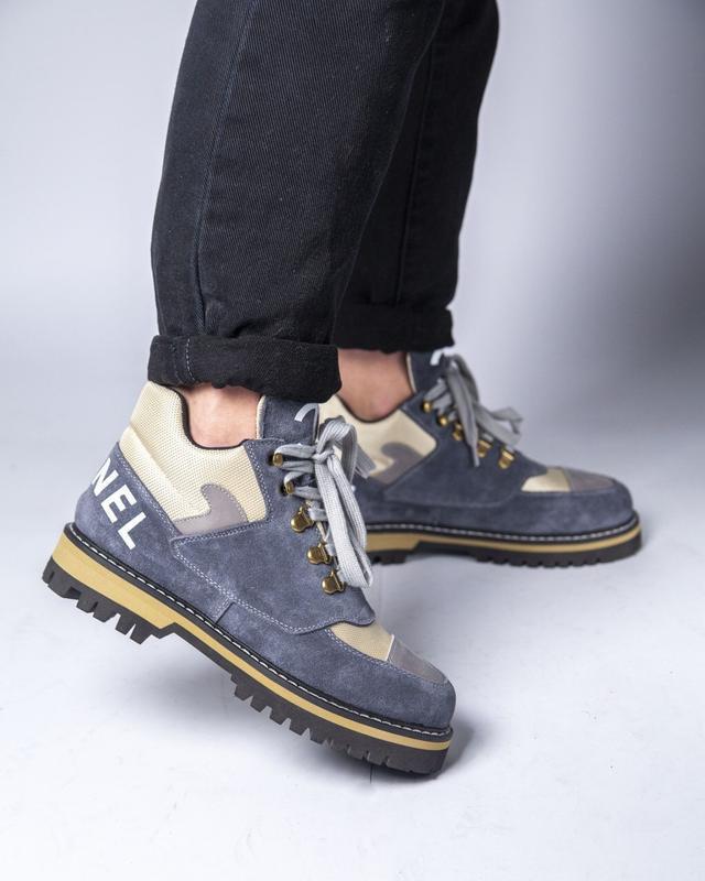 Lux качество! трендовые женские ботинки туфли chanel