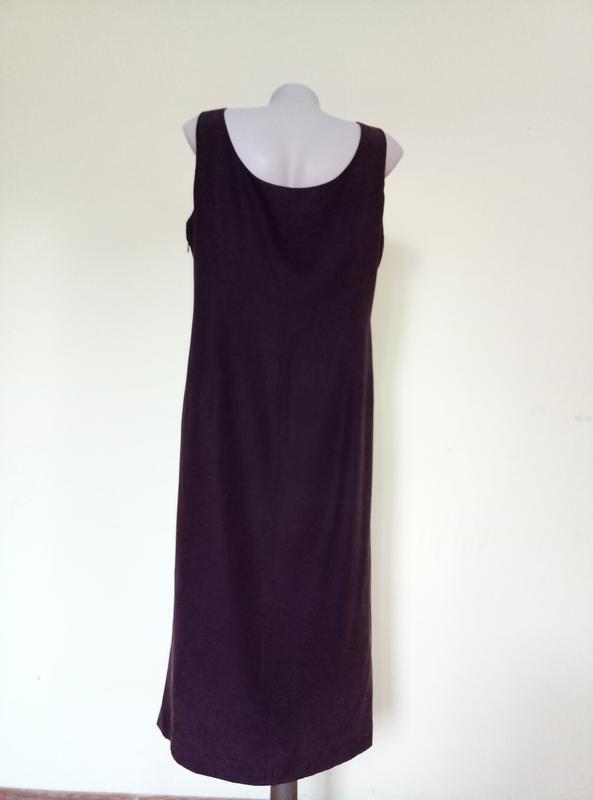 Шикарное шелковое платье с вышивкой - Фото 6