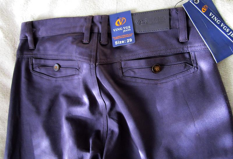 Мужские штаны брюки сливового цвета 29 размер - Фото 4