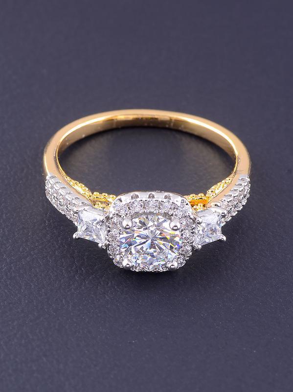 Кольцо 'xuping' фианит (позолота/родий) 0766500