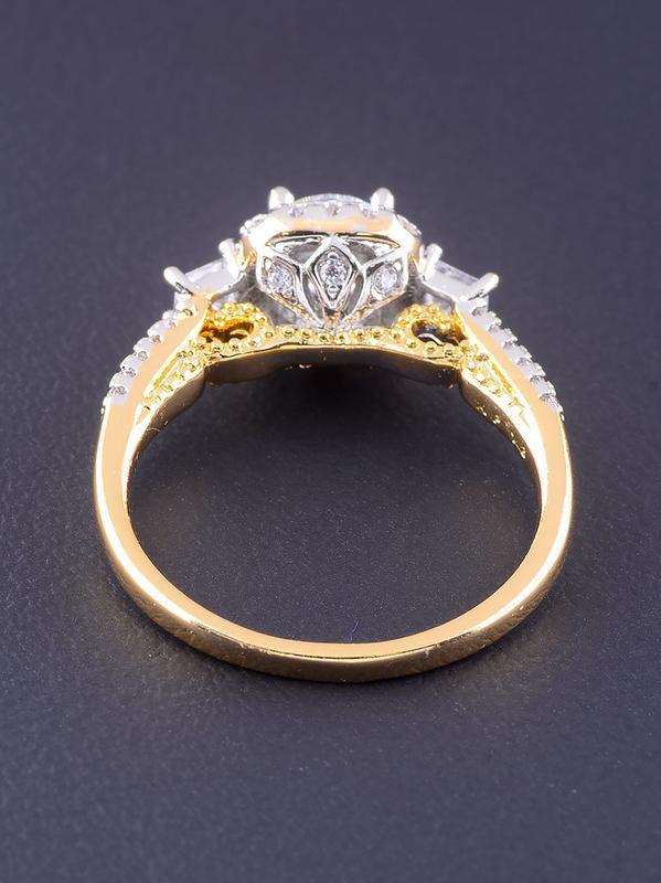 Кольцо 'xuping' фианит (позолота/родий) 0766500 - Фото 3