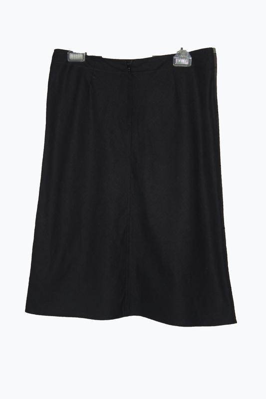 Льняная юбка-миди трапеция - Фото 2