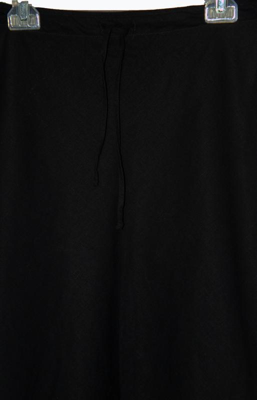 Льняная юбка-миди трапеция - Фото 3