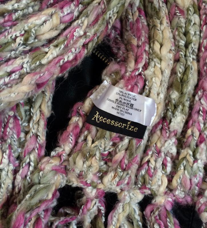 Красивый вязаный шарф - Фото 2